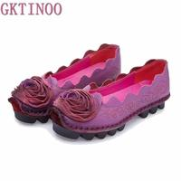 2016 New Women S Soft Genuine Leather Flat Shoes High Quality Vintage Ladies Handmade Casual Flats