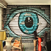 Customize Any Size Wall Paper Cartoon Abstract Wood Eyes Special Graffiti Sitting Room Wallpaper Wallpaper 3