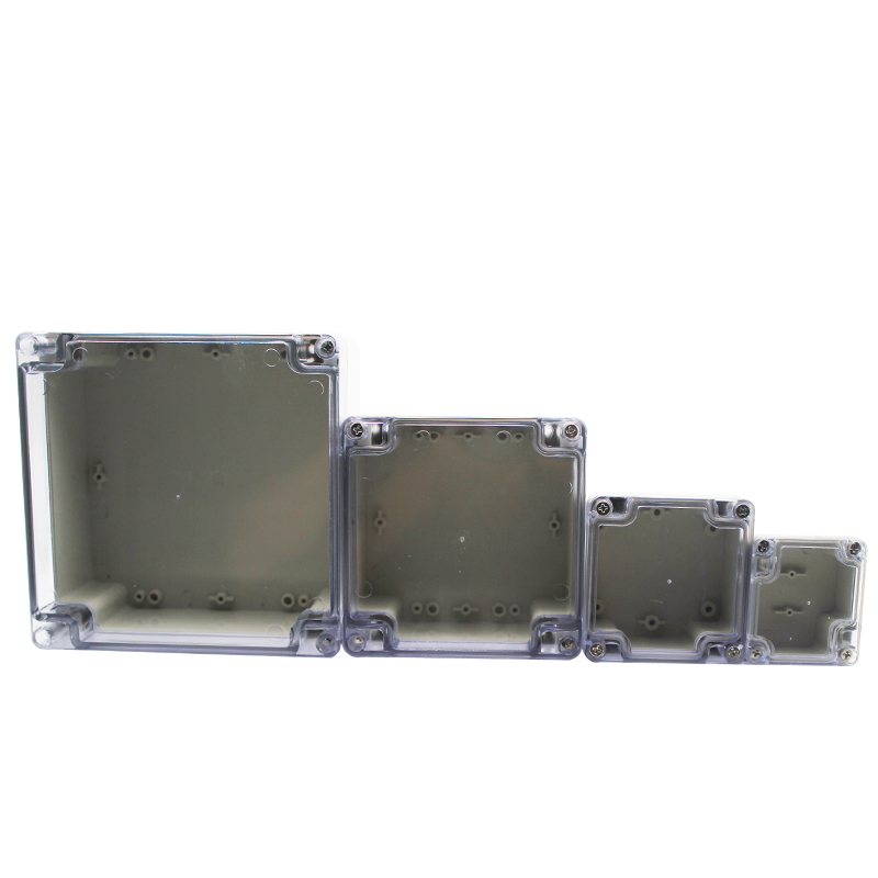 Electronic Junction Box Plastic Enclosure Box Project Instrument Case Waterproof Electrical Project Box with Clear Cover