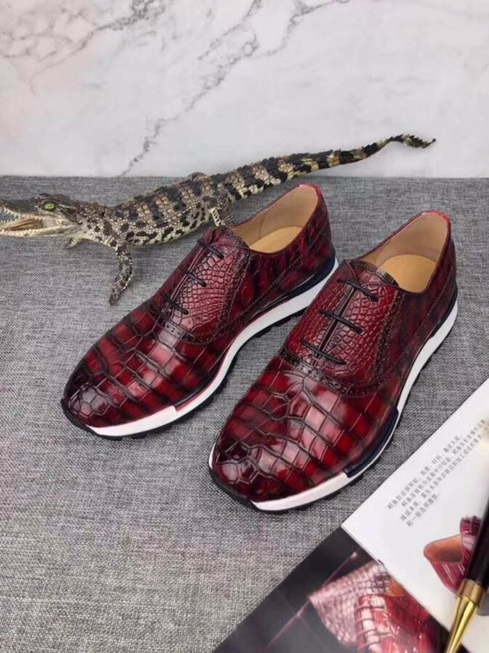 100% Genuine real crocodile belly glossy skin men shoe durable solid crocodile skin men business shoe with 2 colors mixed skin ws 49 2 статуэтка мудрая сова