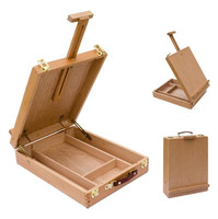 Desktop Box Easel Artist Painting Hardware AccessoriesPainting Suitcase Art Supplies