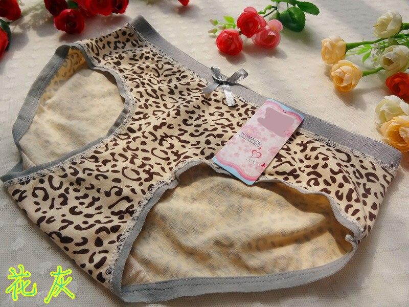 One Piece Cotton Comfort Underwear 2015 Hot Selling Intimates Underwear Women Sexy Leopard   Panties   Briefs