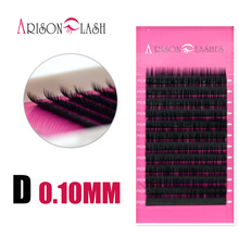 Lashes Retail Free Shipping D Curl 0.10mm Thickness Long Natural Eye Lashes High Quality Fake False Eyelashes Extension
