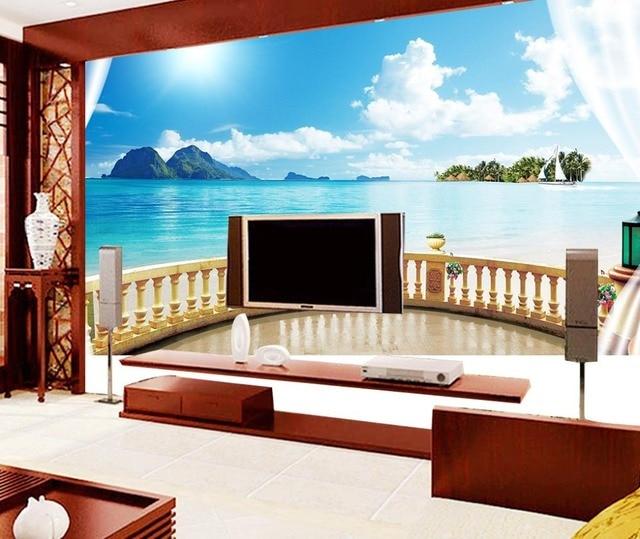 Papel pintado para paredes paisajes custom d wallpaper cascada paisaje papel pintado paredes - Papel pintado paisajes ...