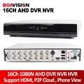 CCTV 16-канальный AHD DVR 1080N 960 H Безопасности В Режиме Реального времени Видеонаблюдения DVR NVR HVR HDMI AHDNH 16 Канала 1080 P 3-МЕГАПИКСЕЛЬНАЯ 5MP Рекордер Onvif