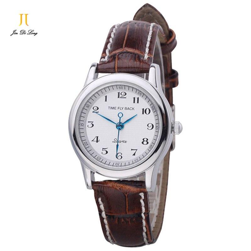 Brand TS Anticlockwise Quartz Watch Women Dress Clock Ladies Watches Classic Leather Strap Wristwatch Waterproof Montre