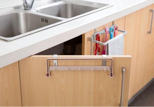 1pc Hot Sale Over Door Tea Towel Rack Bar Hanging Holder Rail