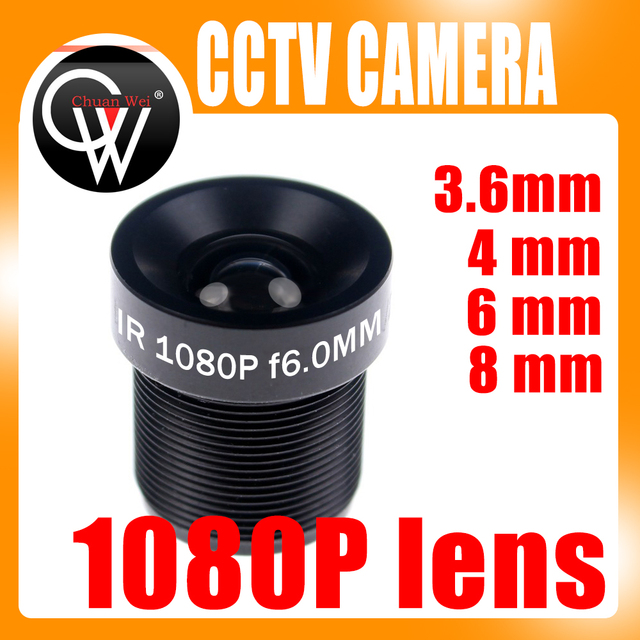 CCTV 1080P Lente 1/2. 7 3.6 millimetri 4 millimetri 6mm 8mm Per Full HD CCTV Macchina Fotografica del IP Della Macchina Fotografica M12 * 0.5 MTV Mount