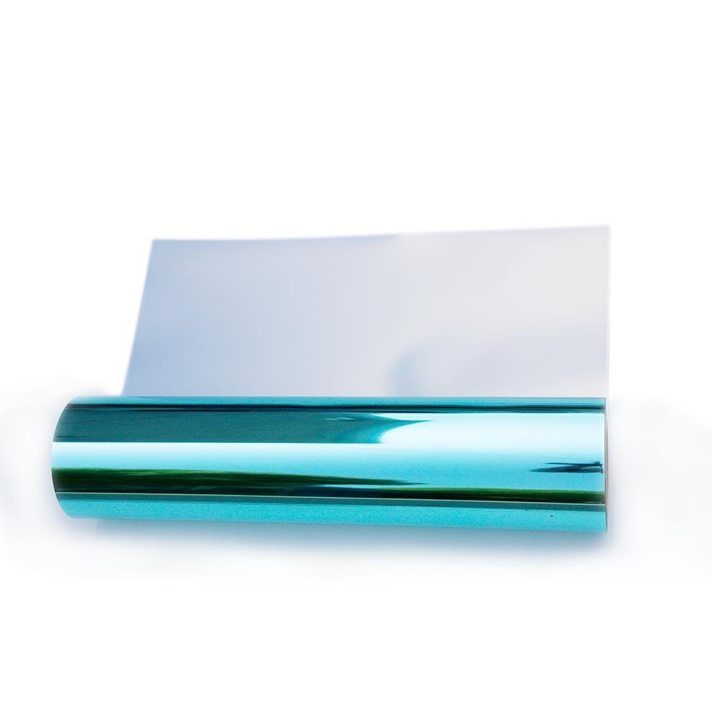 Vinilo metálico de 50x50cm de lámina verde de lago para transferencia de calor, el mejor vinilo de hierro en HTV para camafeo de silueta, prensa de calor y máquina Cricut