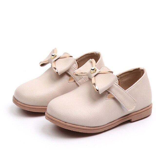 purchase cheap fdc84 ef2cb Xinfstreet Baby Mädchen Schuhe Prinzessin Nette Bogen Kinder Schule PU  Leder Weiche Kleinkind Für Größe 21 30