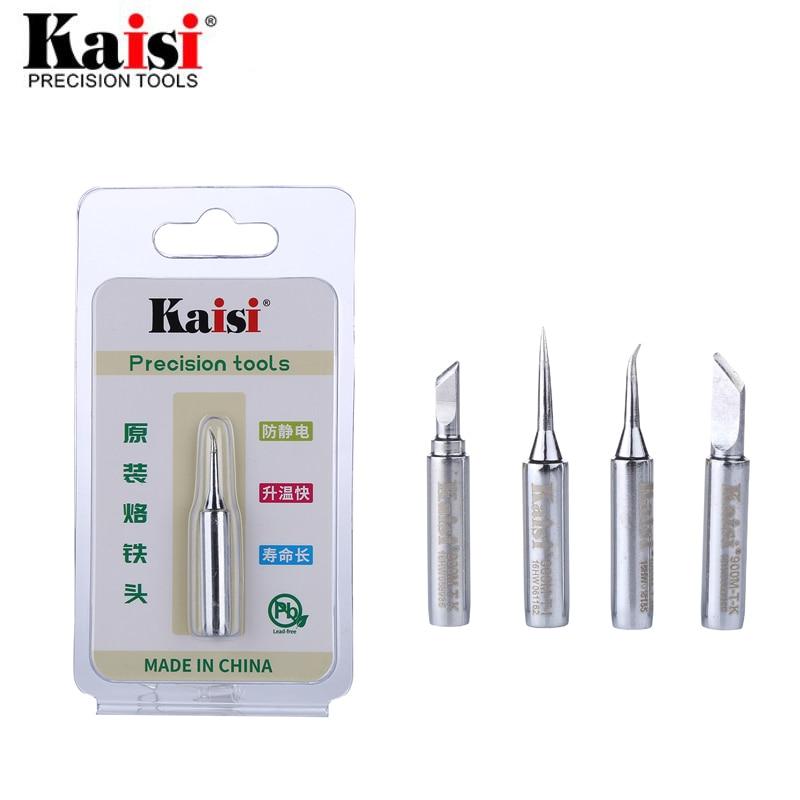 Kaisi Lead-Free Soldering Iron Tip 900M-T-K 900M-T-I Welding Sting Solder Iron Tips For BGA Rework Soldering Station Tools