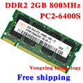Lifetime warranty For hynix DDR2 2GB 4GB 800MHz PC2-6400S Original authentic DDR 2 2G notebook memory Laptop RAM 200PIN SODIMM