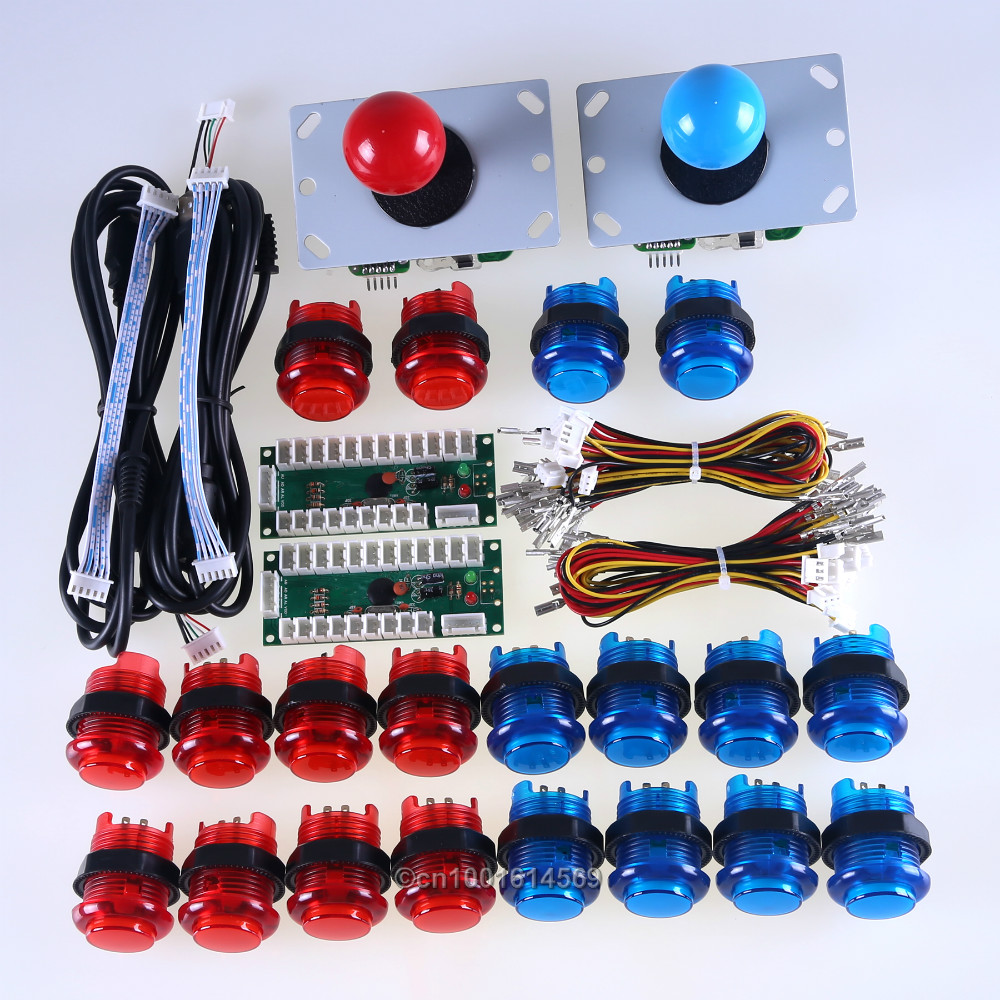 <font><b>LED</b></font> Arcade Games DIY Parts Bundle Kit 2 x USB Encoder Board + 2 x Arcade <font><b>Joystick</b></font> + 20 x <font><b>LED</b></font> Lamps Buttons Mini Arcade Machine