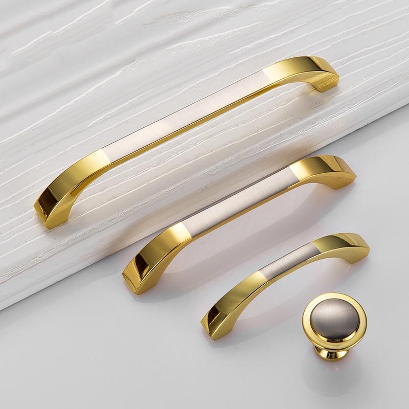 Us 138 40 Offmoderne Deurgrepen Keuken Kast Knoppen En Handgrepen Zilveren Meubels Hardware Garderobe Kast Handvat Goud Lade Trekt In Kast Grepen