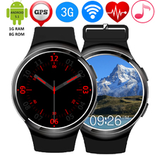 ZW24สมาร์ทนาฬิกาMTK6580 Quad Core 1กิกะไบต์+ 8กิกะไบต์บลูทูธ4.1 3กรัมWIFI S Mart W Atch H Eart Rate Monitor GPSกีฬานาฬิกาสำหรับAndroid iOS
