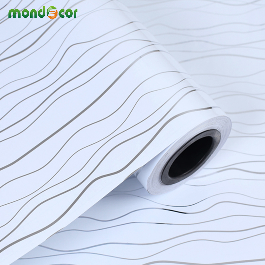 3m Modern Glossy Laser Pvc Self Adhesive Wallpaper Diy Home Decor Vinyl Wall Sticker Waterproof