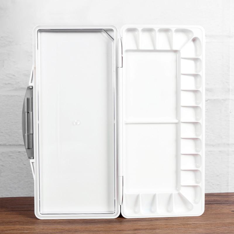18/23/33/38/50 Lattice Folding Palette With Color Palette Easy To Wash Watercolor Paint Palette Paint Box Art Supplies