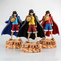 1 Pcs Japan Anime One Piece Monkey D Luffy Figure Calendar Style PVC Action Figure Model Doll Toy Christmas Gifts 20 CM 3 Type