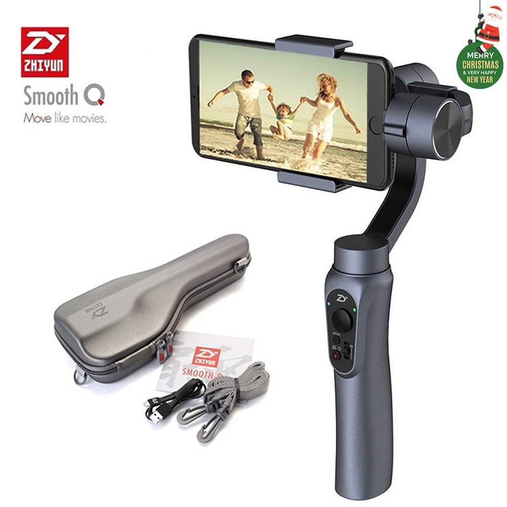 zhiyun smooth q 3 axis handheld gimbal stabilizer for smartphone iphone samsung huawei and gopro. Black Bedroom Furniture Sets. Home Design Ideas