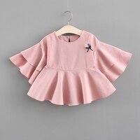 Neugeborenen Kleid Mode 2018 Sommer Frühling baby rosa kleidung für mädchen kleidung prinzessin baumwolle Weihnachten kleider Kinder Tops 3Y