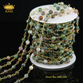 5Meter 6mm Faceted Round India Agate Rosary Beads Chain for Pendant Necklace Fashion Religious Jewelry Making JD0132