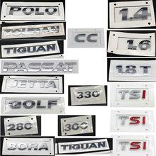 GOLF POLO BORA JETTAa PASSAT TIGUAN TOURAN CC TSI 1,4 1,6 230 300 330 380 ABS гальванические задние автомобильные Логотипы знак