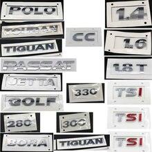 Гольф Polo Bora JETTAa PASSAT Tiguan Touran CC TSI 1,4 1,6 230 300 330 380 гальванопластика ABS сзади автомобильные Логотипы знак