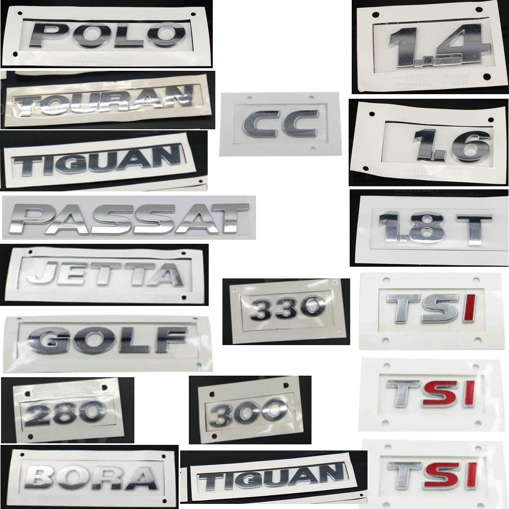 GOLF POLO BORA JETTAa PASSAT <font><b>TIGUAN</b></font> TOURAN CC <font><b>TSI</b></font> <font><b>1.4</b></font> 1.6 230 300 330 380 ABS electroplating back Auto Logos sign image
