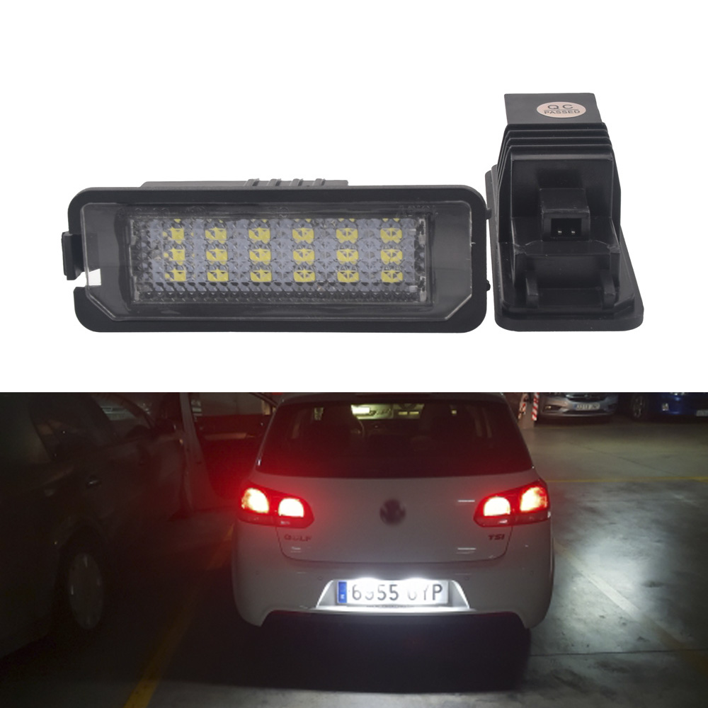 2x Car <font><b>LED</b></font> License Plate Light <font><b>Canbus</b></font> For <font><b>VW</b></font> Golf 6 VI 5 V GTI Passat B6 CC For Seat Leon Altea for Skoda Touran Transpiarter T5 image