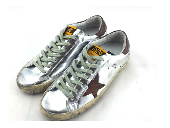 3cad883d2e1f12 Brand Golden Goose Sneakers Superstar Silver Flag Men Women Low Cut Sneaker  GGDB Genuine Leather Casual Shoes Zapato Deportivo