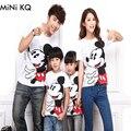 Vestido A Juego familia Padre Madre Hija Hijo Pack Look Arropan Personaje de Moda de Verano de Manga Corta de Algodón Camisetas