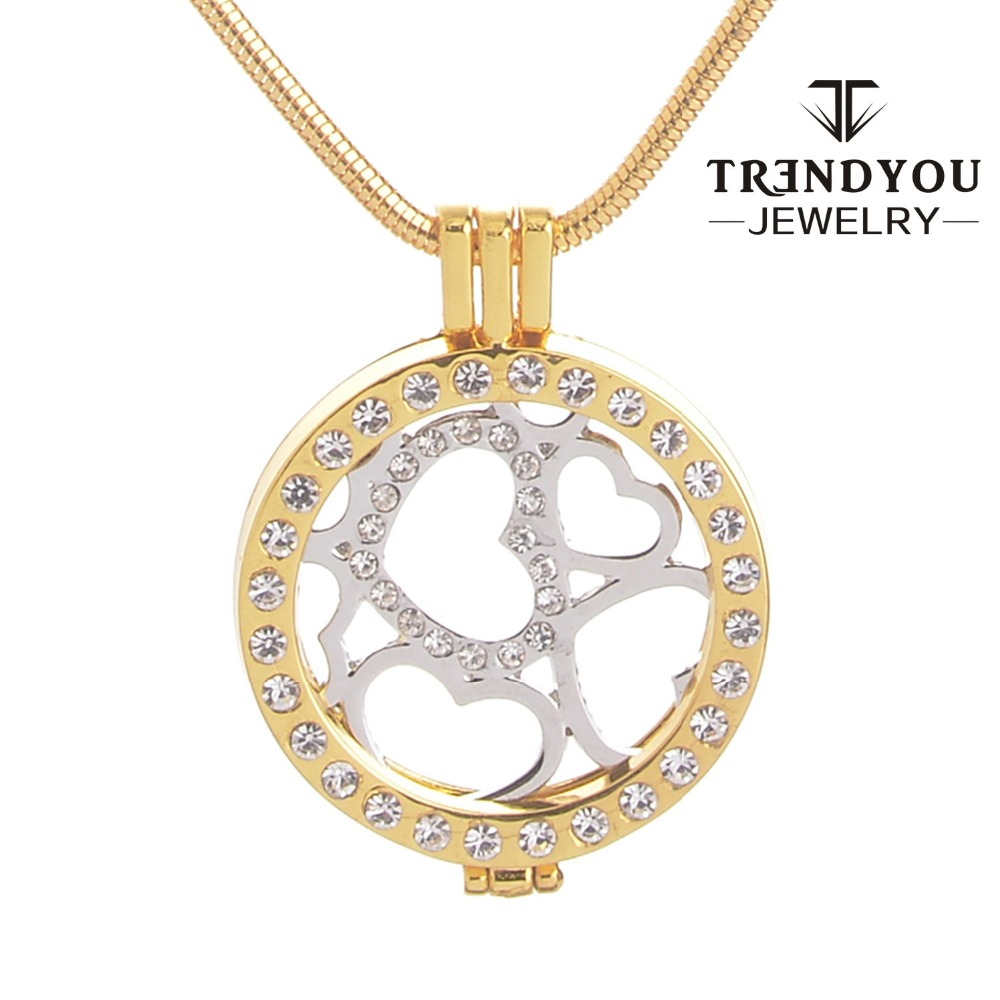 from item necklace box zircon soulmate my jewelry trendyou mi pendant coin women diy gift necklaces for in with