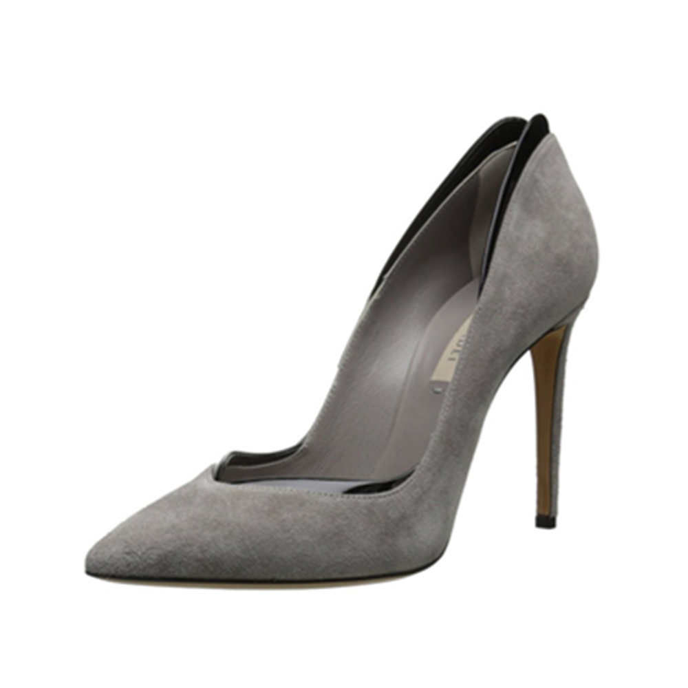 Aidocrystal Sexy Point Toe Leahter High Heels Pumps Shoes 2017 Newest Woman's Grey Party Heels Shoes Wedding Shoes Size 35-42 aidocrystal newest biling floral crystal around women high heel pumps wedding shoes and bags