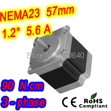 цена на 30 pieces per lot 3 phase step motor 23HT22-5606S L 56 mm Nema 23 with 1.2 deg 5.6 A 90 N.cm and unipolar 6 lead wires