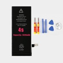 Pour iphone 4s mobile téléphone batterie 1430 mah 3.7 v d'origine haute capacité li-polymère batterie pour téléphone batterie 4S