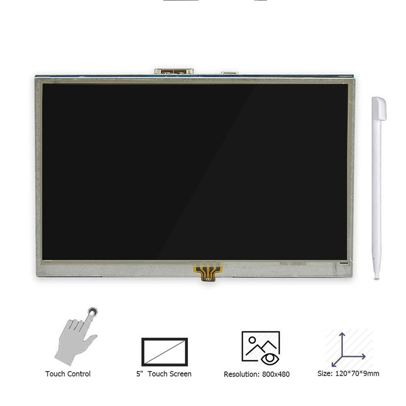 5 Inch LCD HDMI Touch Screen Raspberry Pi 3 Display LCD HDMI Monitor 800x480 for Banana Pi Raspberry Pi 3 2 Model B B in LCD Monitors from Computer Office