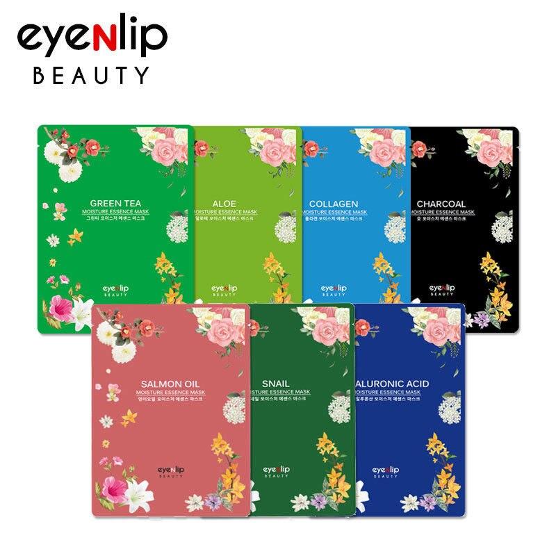 Korea Cosmetics EYENLIP Moisture Essence Mask 5pcs ( 5 Type ) Skin Care Face Mask Treatment Facial Mask Whitening Anti Winkles