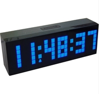4 Colors LED Clock Digital Alarm Clock Wall Table Desktop New Design with Snooze Calendar Temperature Chiristmas gift present