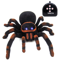 New Children Electric Animal Novelty Creative Toy Infrared RC Prank Spoof Spider Four way RC Tarantula Black Widow for Boys