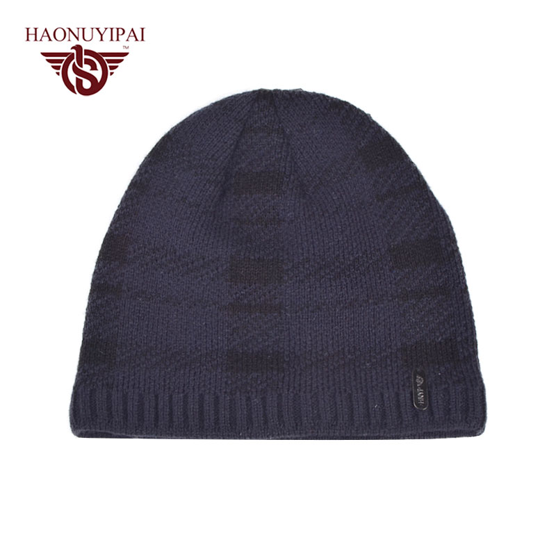 Factory Custom Wholesale High Quality Plaid Knit Skullies Beanies Adult Casual Hats For Men Ski Bonnet Beanie Fleece Warm  PA089  цены