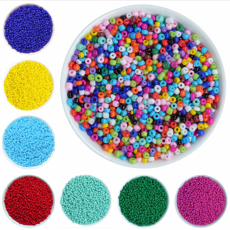 1000Pcs/lot 2mm Crystal Glass Czech Seed Beads Loose Miyuki Spacer Hama Beads For DIY Jewelry Making Perles Berloque