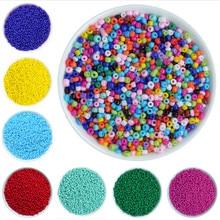 1000Pcs/lot 2mm Crystal Glass Czech Seed Beads Loose Miyuki Spacer Hama For DIY Jewelry Making Perles Berloque