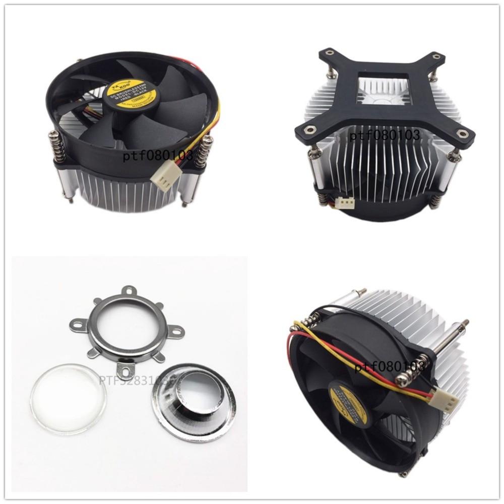 50 Вт 100 Вт high power <font><b>led</b></font> радиатора DC 12 В 1.2A <font><b>led</b></font> вентилятор охлаждения + 44 мм объектив Комплект