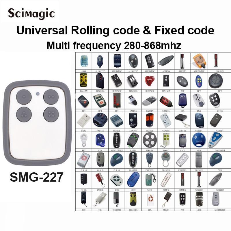 1 Unidad copia de frecuencia unids múltiple 868 MHz 280 código de laminación puerta de garaje control remoto duplicador calidad superior