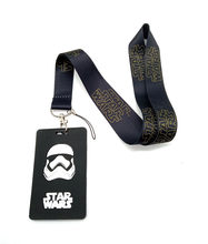 Hot Sale! 1 pcs Cartoon star wars Lanyard Key Chains Card Holders Bank Card Neck Strap Card Bus ID Holders P001(China)