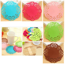 Stationery Placemat Table-Decoration School-Supplies Office for Mugs-Cup Hollow-Pad Disc-Tree/flower