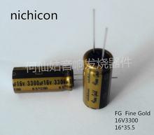 5 шт/10 шт nichicon fg серии 16v3300uf 16*355 тонкий золотой