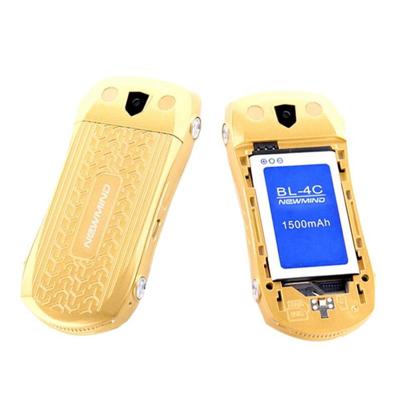 Newmind F15 Flip ontgrendeld MP3 MP4 FM-zaklamp Dual SIM-kaarten - Mobieltjes - Foto 6