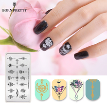 BORN PRETTY Весенний сад серии Nail Stamping Plate Flower Leaf Template Rectangle Nail Art Image Plate