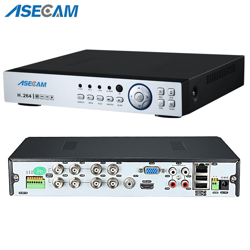 Super New 8CH AHD DVR AHD H HD 1080P Video Recorder H.264 CCTV Camera Onvif Network 8 Channel IP NVR Multilanguage With Alarm-in Surveillance Video Recorder from Security & Protection
